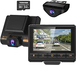 Dual Dash Cam, AQP Full HD 1080P Car Camera Front and...