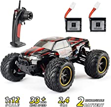 RC Car, Theefun 2.4 GHz High Speed Remote Control Car, 1:12 Scale Electric Toy Car for Kids and Adults, Off Road Monster R...