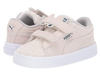 Puma Kids Suede Winter Monster V (Toddler) (Whisper White/Gibraltor Sea) Girls Shoes