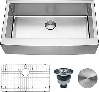 Ruvati 36-inch Farmhouse Apron-Front Kitchen Sink Stainless Steel Single Bowl - RVH9366