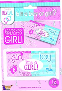 Forum Novelties Gender Reveal Lotto Tickets- It's a Girl (12)