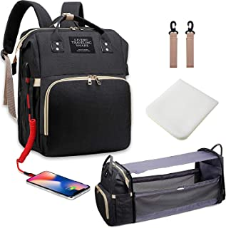 3 In 1 Multifunctional Baby Travel Bag,Portable Bassinet Crib with Hook&Changing Pad&Shade Cloth, Changing Station, and Di...