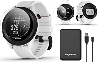 $209 » Garmin Approach S12 (White) GPS Golf Watch Bundle   Includes PlayBetter Portable Charger & HD Screen Protectors   Sunligh...