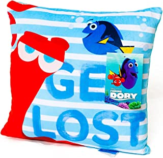 Finding Dory Pillow - Plush Decorative Throw Pillow for Kids 12 x 12 (Get Lost)