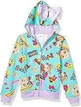 JoJo Siwa Girls' Little Emoji Characters Zip Up Hoodie with Bow on Hood