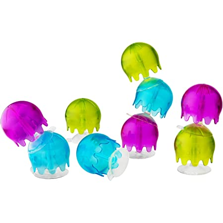 Boon JELLIES Suction Cup Toddler Sensory Bath Tub Toy for Kids Aged 12 Months and Up, Multicolor (Pack of 9)