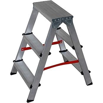 NAWA Escalera Tijera Doble Acceso 3 Peldaños. Escadote Duplo Doméstico em Alumínio 3 degraus. EN 131 Capacidad Máx. 150 kg. Hecho en Europa: Amazon.es: Bricolaje y herramientas