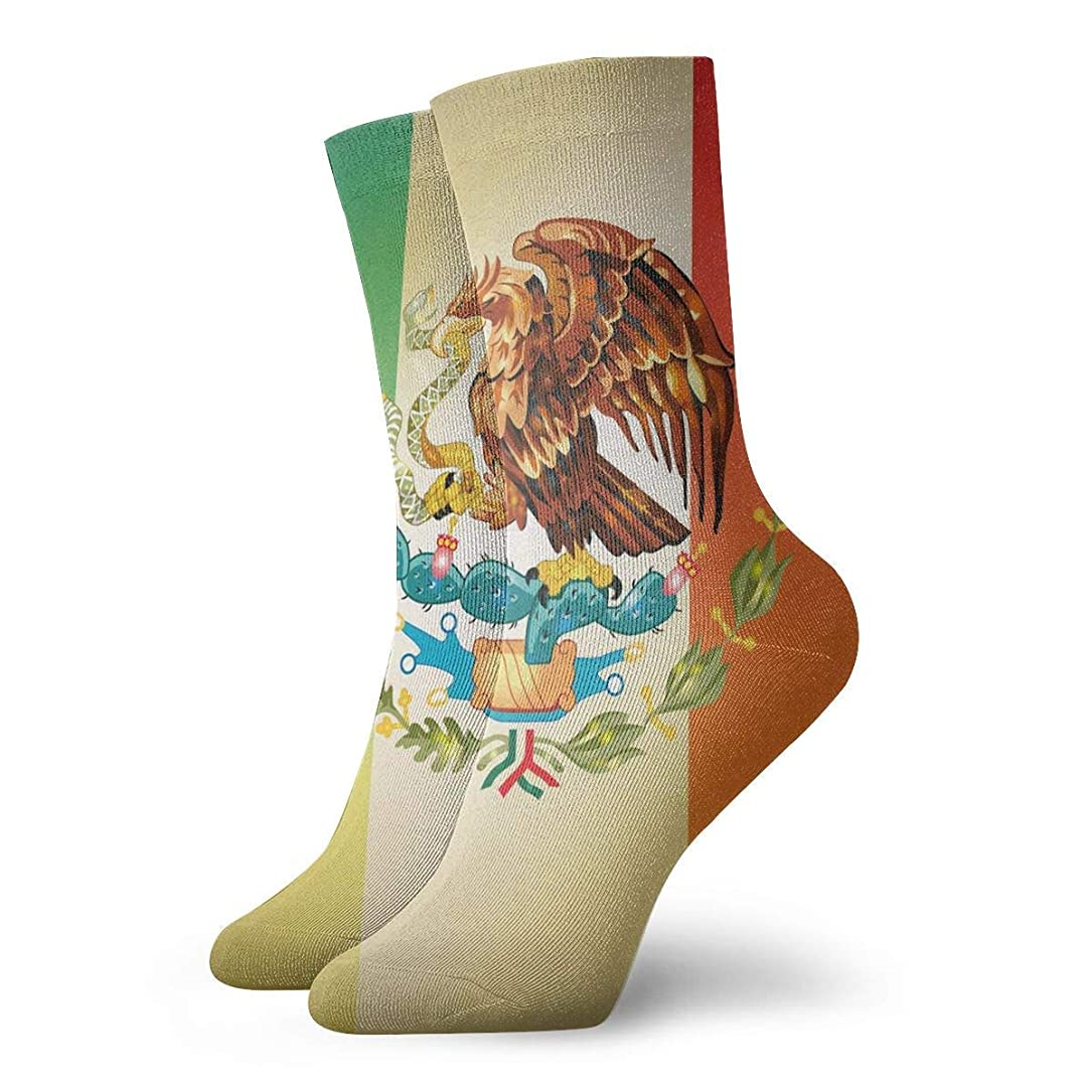 若さとにかく思慮深いストックフォト- QRRIYレディースメキシコフラググラデーションソフトクリスマス膝高ストッキング靴下、クリスマス楽しいカラフルな靴下