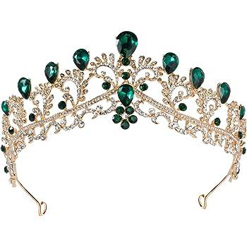 baños A tientas Tradicional  Amazon.com: SWEETV - Tiara dorada para mujer, corona de esmeralda, tiara,  diadema, accesorio de fiesta para Brithday Halloween Babyshower: Beauty