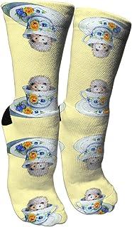 靴下 抗菌防臭 ソックス イエローアスレチックスポーツソックス、旅行&フライトソックス、塗装アートファニーソックス