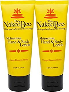 The Naked Bee Orange Blossom Honey Hand and Body Lotion, 2.25 Oz - 2 Pack