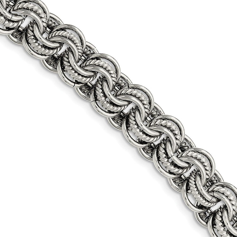 Beautiful Stainless Steel Multiple Links 7.75in Bracelet