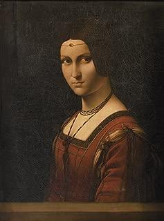 Leonardo Da Vinci - La Belle ferronnière, Size 18x24 inch, Poster Art Print Wall décor