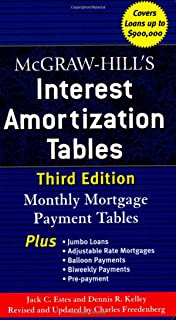 McGraw-Hill's Interest Amortization Tables, Third Edition