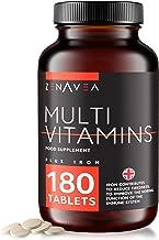 180 Gélules Multivitamines et Minéraux (Fer) - Formule Boost Fer et Biotine - Vitamine A B C D E et minéraux - Complement Alimentaire Végétarien - Made in UK - 6 Mois d'Apport - Homme et Femmes