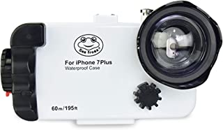MEIKON Waterproof Case for iPhone 7 Plus IPX8 195FT/60M O Ring Seal with Angle Lens and Two Filters White