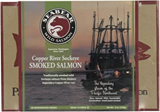 SeaBear Copper River Smoked Sockeye Salmon, 6 Ounce Units