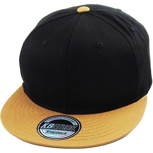 2bfa1c37da1 Classic Snapback Hat Blank Cap - Cotton   Wool Blend Flat Visor
