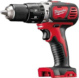 Milwaukee M18BPD-0 Cordless Hammer Drill, 18 V, Red