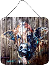 Caroline's Treasures Cow Moo Shine Aluminum Metal Wall or Door Hanging Prints, 6 x 6, Multicolor