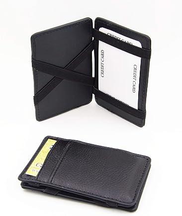 Black PU magic card holder