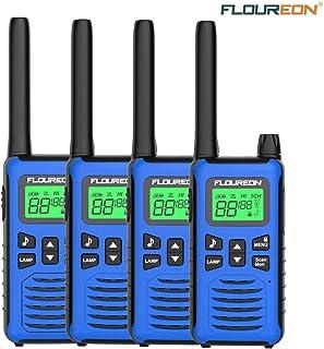 FLOUREON 4 Packs Walkie Talkies Two Way Radios 22 Channel 3000M (MAX 5000M Open Field) UHF Long Range Handheld Talkies Tal...