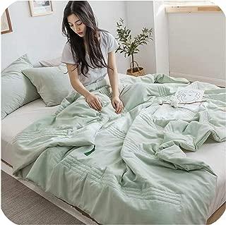 TT Lemon New Solid Color Soft Quilts Children Bedding Comforter Adults King/Twin/Queen Size Bedroom Duvet Summer Quilt Blanket,200X230Cm,6