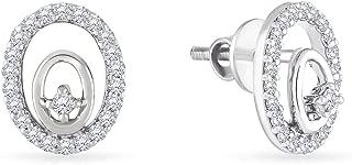 Malabar Gold and Diamonds 950 Platinum Stud Earrings for Women
