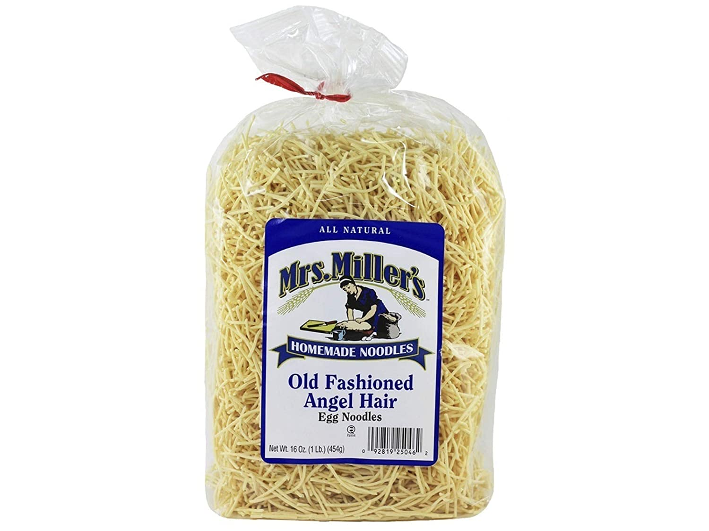 Overseas parallel import regular item Mrs. Superlatite Miller's Old Fashioned Angel Hair Noodles Case 16 of Oz.