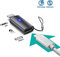 Basevs iOS (Male) to USB C (Female) Adapter Support Data Sync and Charging 5 V 2.1A with Blue Light Compatible with iPad iPhone 11 Pro X Max 8 Plus 7 Plus 6 Plus SE Connect MacBook