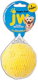 JW Pet Company Giggler Ball Dog Toy, Large, (Colors Vary)