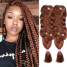 2 Pack Jumbo Braiding Hair Brown Color Kanekalon X-Pression Braiding Fiber Hair Extensions African Jumbo Braids for Twist Corchet (165g/pcs, 84inch,30#)