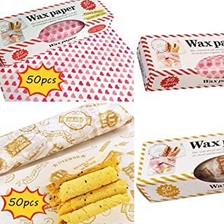 Wax Paper,EGUANSHIZU Resistant Waterproof Greaseproof Paper for Food Picnic