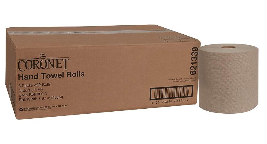 Coronet 621339 Paper Hand Towel Rolls, 1-Ply, 7.87
