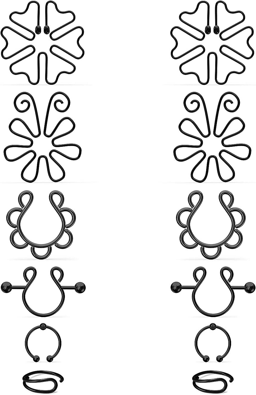 Kadogohno Fake Nipple Rings Fake Nipple Piercing Fake Nipple Ring Fake Nipple Piercings Fake Nipples Nipple Rings Non Piercing Faux Nipple Ring Clip On Nipple Rings Faux Nipple Rings Nipplerings
