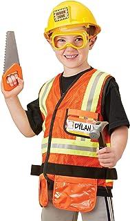 Melissa & Doug 4837 Construction Worker Role Play Costume Dress-Up Set (6 pcs)