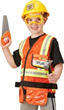 Melissa & Doug Construction Worker Role-Play Costume Set, Pretend Play, Fabrics,..