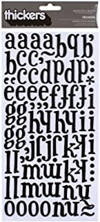American Crafts Thickers Printed Chipboard Stickers Sheet, 6 by 11-Inch, Iguana, Black