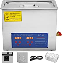 VEVOR Commercial Ultrasonic Cleaner 6L Heated Ultrasonic Cleaner with Digital Timer Jewelry Watch Glasses Cleaner Large Capacity Cleaner Solution