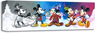 Disney Fine Art Mickey's Creative Journey by Tim Rogerson Treasures on Canvas Mickey Mouse 8 Inches x 24 Inches Reproduction Gallery Wrapped Giclée on Canvas Wall Art