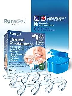 Gebitsbeschermer om te stoppen met tandenknarsen (8 x verpakking) Tandbeschermers voor 's nachts knarsen BPA-vrije slaap M...