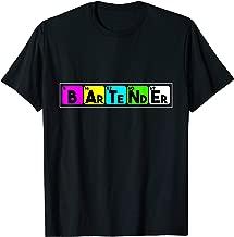 Colorful Bartender Elements T-Shirt for Flair Bartending