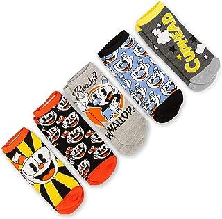 Cuphead Adult Ankle Sock 5-Pack - Cuphead & Mugman Wallop