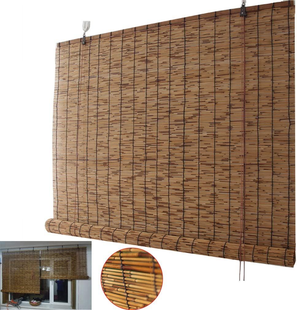 Zhaomi Carbonization Bamboo Roller Blind Privacy Window Blinds Max 70% OFF R Super sale period limited