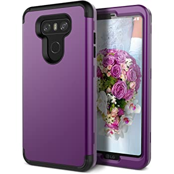WeLoveCase LG G6 Case, Heavy Duty Drop Protection Armor Defender Case Shockproof Silicone Bumper + High Impact Hard PC 3 in 1 Hybrid Protective Case Cover for LG G6 - Purple