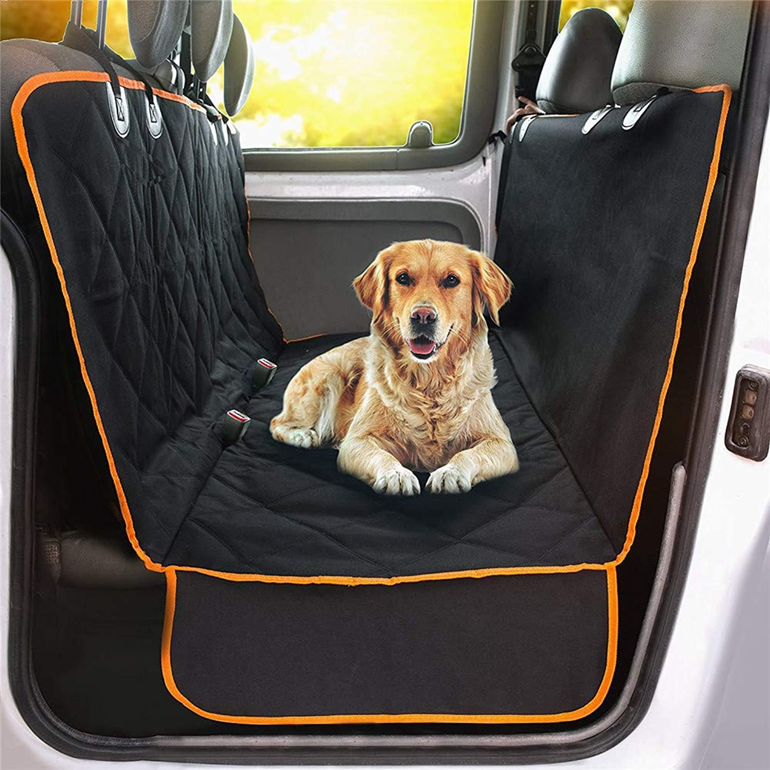 Dog Car Seat Cover  Waterproof Nonslip Back Seat Dog PredectionCars, Trucks and Suvs Full Predector, w Extra Side Flaps  Hammock Congreenible for Your Pet