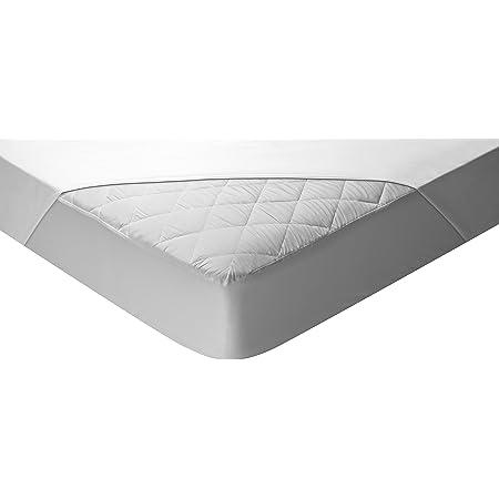 Pikolin Home - Protector de colchón acolchado, Aloe Vera, transpirable, 200x200-Cama 200 (Todas las medidas)