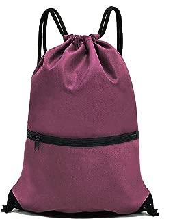 Drawstring Backpack Bag Sport Gym Sackpack