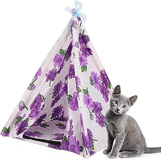 Hund tipi, katt tält sällskapsdjur myggnät avtagbar sällskapsdjur tält katt skydd tillfälligt för hem för camping(purple)