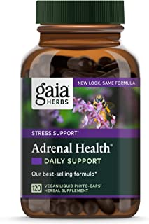 Gaia Herbs, Adrenal Health Daily Support Vegan Liquid Phyto Capsules - Stress Relief and Adrenal Fatigue Supplement, Ashwa...